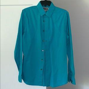 Teal button down dress shirt